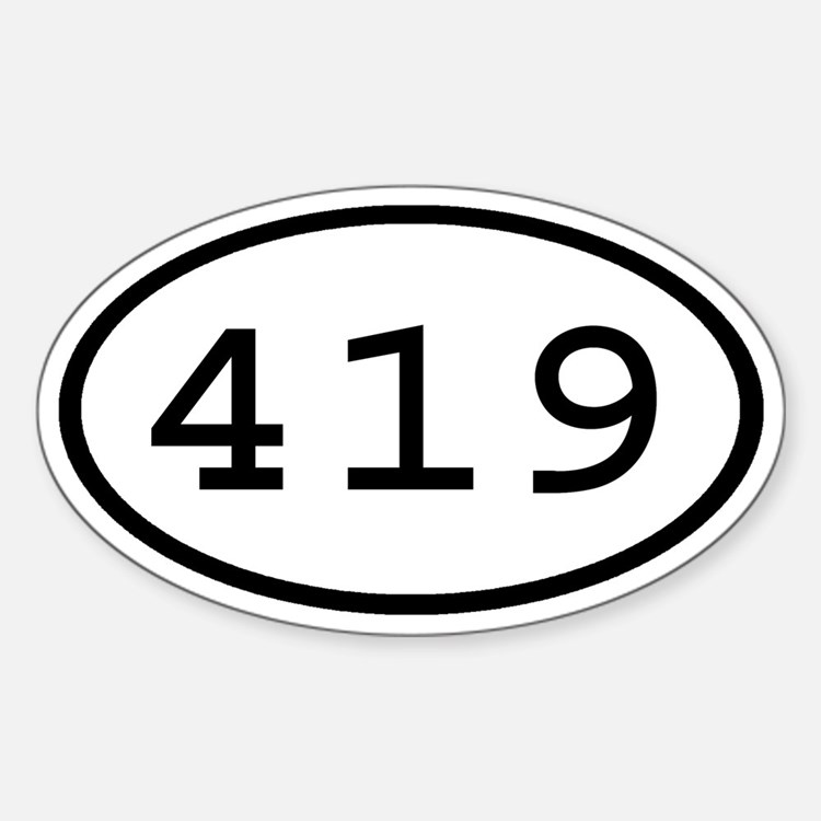 419 Oval Oval Decal