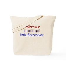 Taylor Firecracker Tote Bag