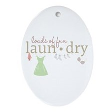 Loads Of Fun Laundry Ornament (Oval)