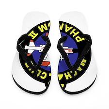 Jet blue Flip Flops