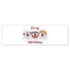 Its my 48th Birthday (Clown) Bumper Bumper Sticker