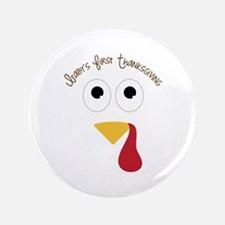 "Baby's First Thanksgiving 3.5"" Button (100 pack)"