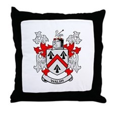 WALSH Coat of Arms Throw Pillow