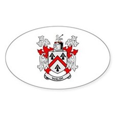 WALSH Coat of Arms Oval Decal