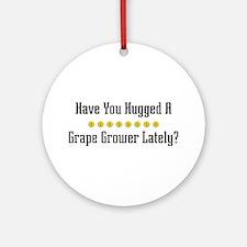 Hugged Grape Grower Ornament (Round)