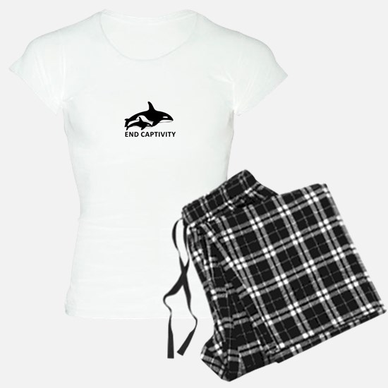 Save the Orcas - captivity kills Pajamas