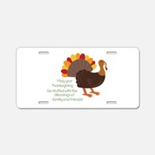 May Your Thanksgiving Aluminum License Plate
