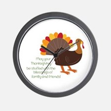 May Your Thanksgiving Wall Clock