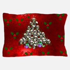 Merry Christmas Skulls Pillow Case