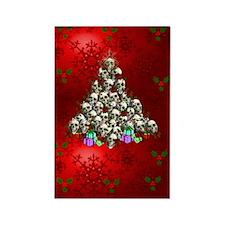 Merry Christmas Skulls Rectangle Magnet