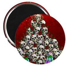 Merry Christmas Skulls Magnet