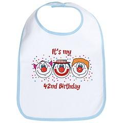Its my 42nd Birthday (Clown) Bib
