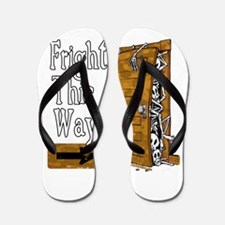 Cute Haunted house Flip Flops