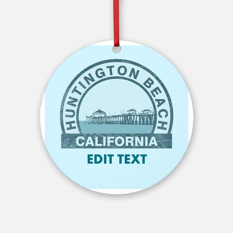 Huntington Beach Ornament (Round)