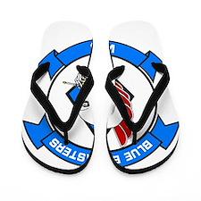 Unique Jet blue Flip Flops