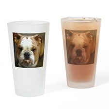 Unique Bulldogs Drinking Glass