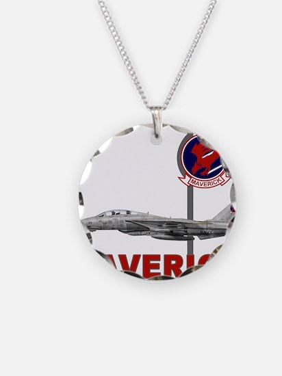 Cute Maverick Necklace Circle Charm