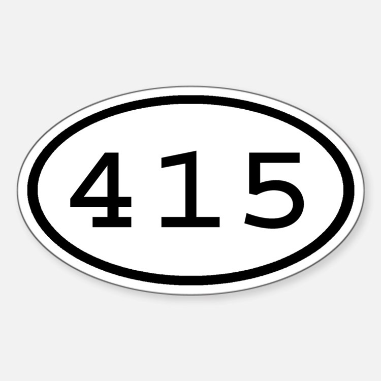 415 Oval Oval Decal