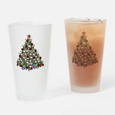Merry Christmas Skulls 2 Drinking Glass