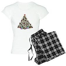 Merry Christmas Skulls 2 Pajamas