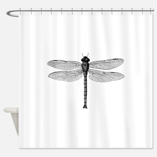 Funny Dragonflies Shower Curtain