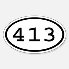 413 Oval Oval Decal