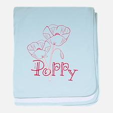 Poppy baby blanket