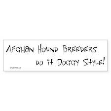 Afghan Hound Doggy Style Bumper Bumper Bumper Sticker