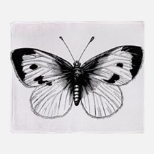 Cool Black butterfly Throw Blanket