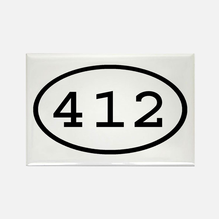 412 Oval Rectangle Magnet