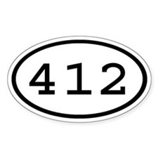 412 Oval Oval Decal