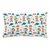 Fishing girl Pillow Cases