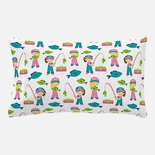 Cute Fishing Girl Pillow Case