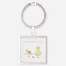 Easter Chick Keychains