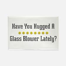 Hugged Glass Blower Rectangle Magnet