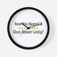 Hugged Glass Blower Wall Clock