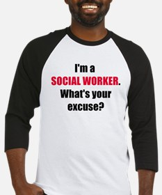 Social Work Excuse Baseball Jersey
