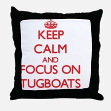 Funny Tugboats Throw Pillow