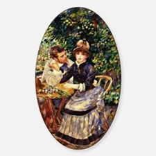 Renoir - In the Garden Sticker (Oval)