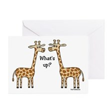 What's up? Giraffe Greeting Cards (Pk of 10)