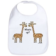 What's up? Giraffe Bib