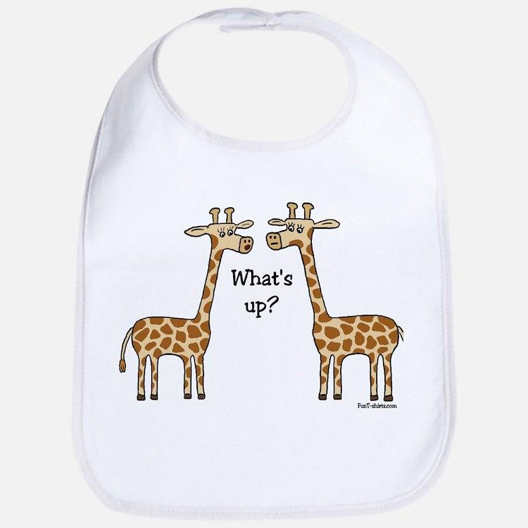 What's up? Giraffe Bib