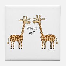 What's up? Giraffe Tile Coaster