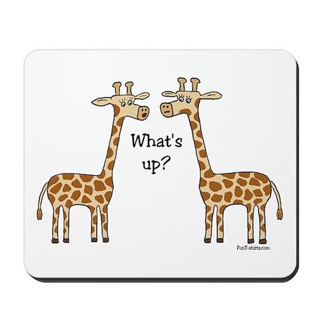What's up? Giraffe Mousepad