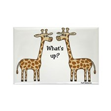 What's up? Giraffe Rectangle Magnet