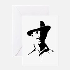 Shaheed Bhagat Singh Silhouette Greeting Cards