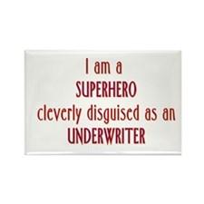 Superhero Underwriter Rectangle Magnet (10 pack)
