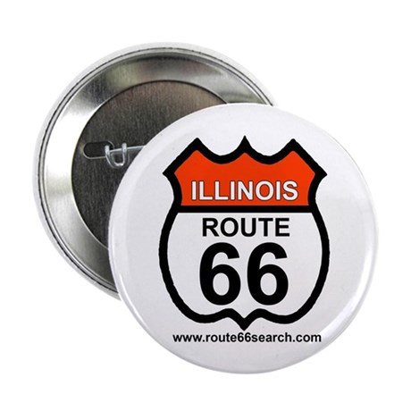 """Illinois Route 66 - 2.25"""" Buttons (100 pack)"""