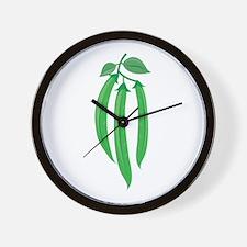 Bean Stalks Wall Clock