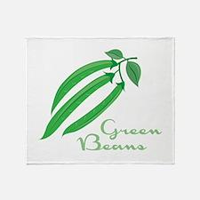 Green Beans Throw Blanket